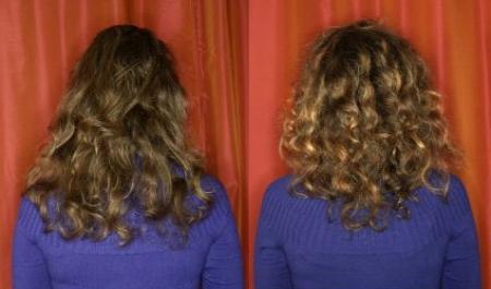Ламинирование волос До и После: